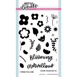 Blooming Marvellous, Heffy Doodle Clear Stamps - 5060540221490