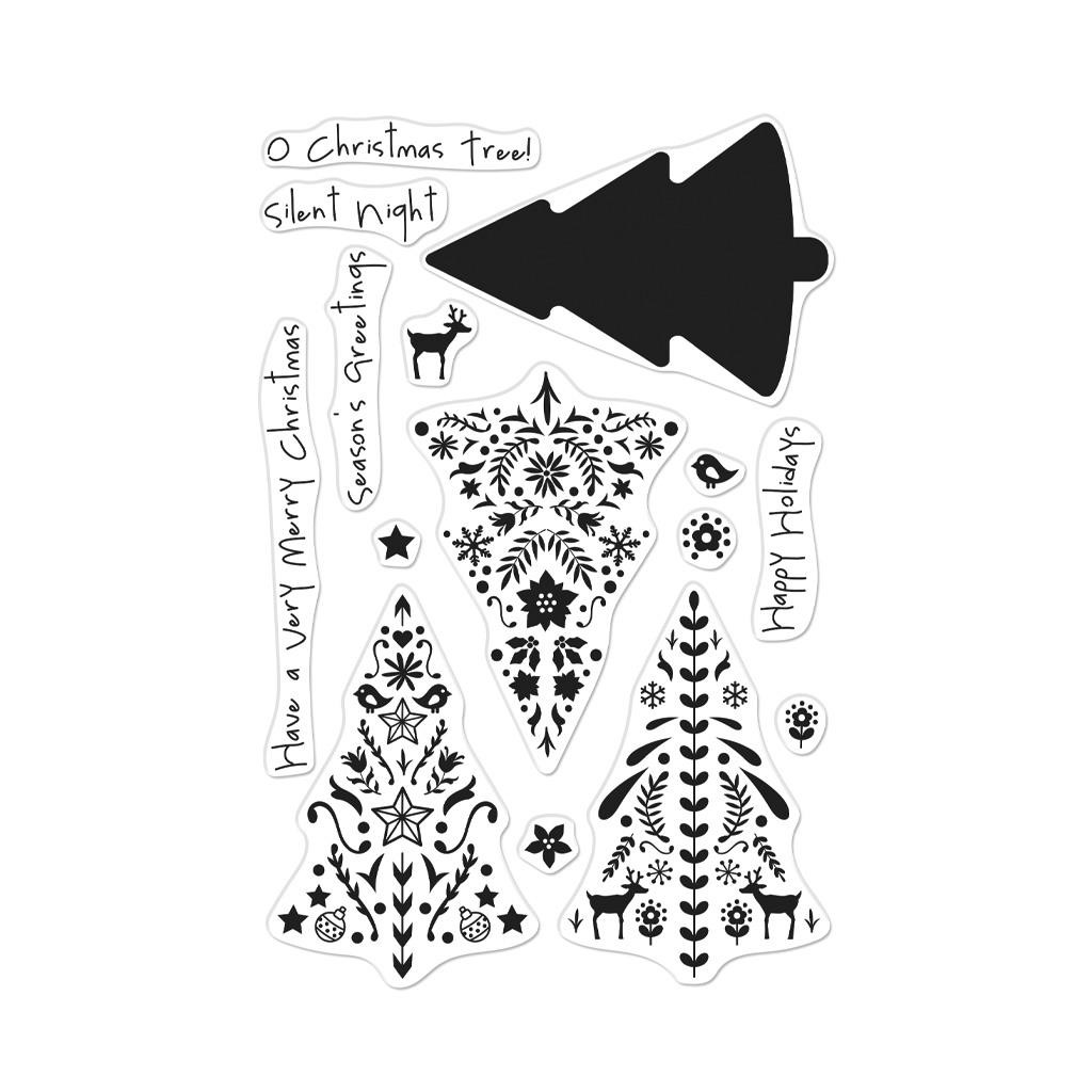 Color Layering Nordic Tree, Hero Arts Clear Stamps - 857009230712