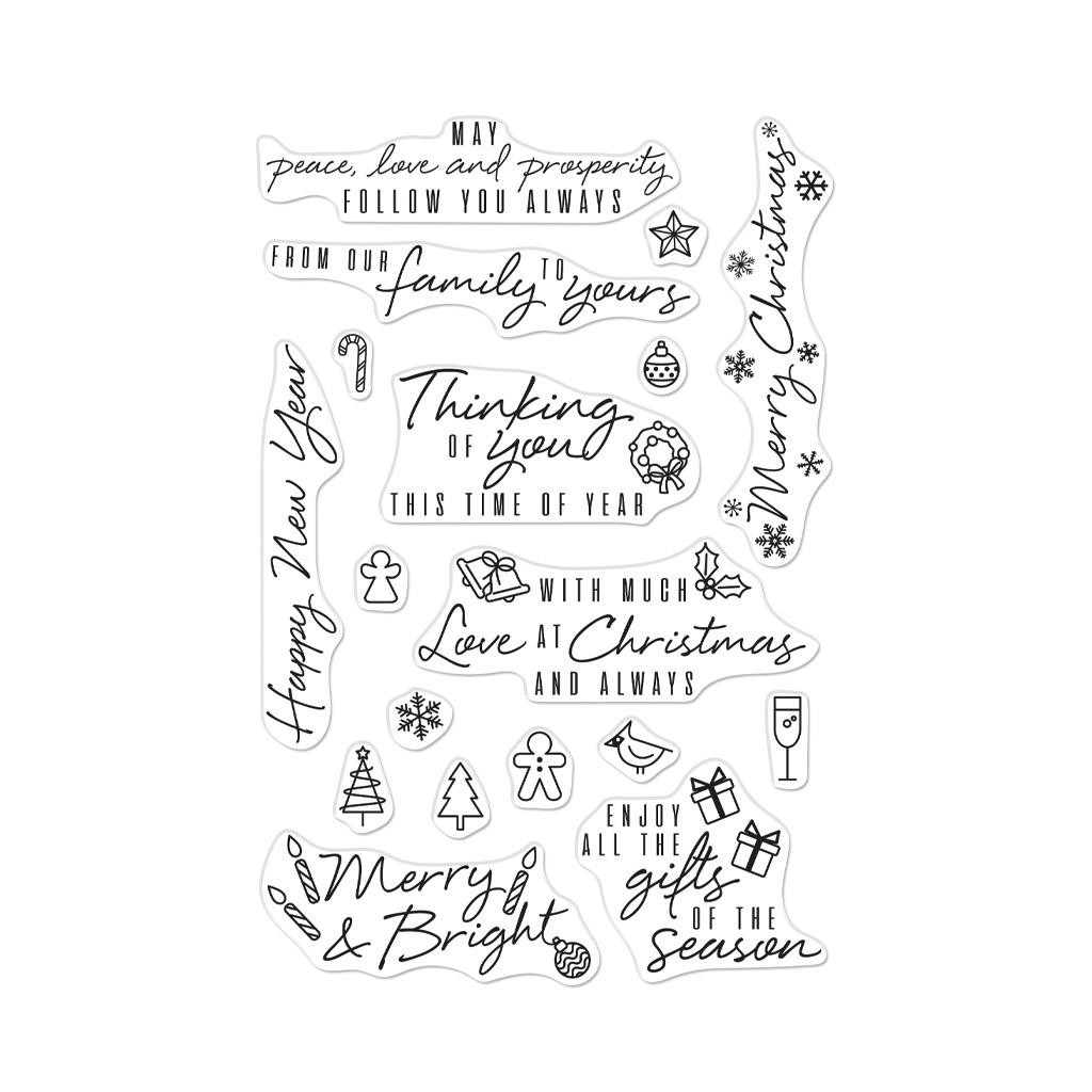 Holiday Messages And Icons, Hero Arts Clear Stamps - 857009230880