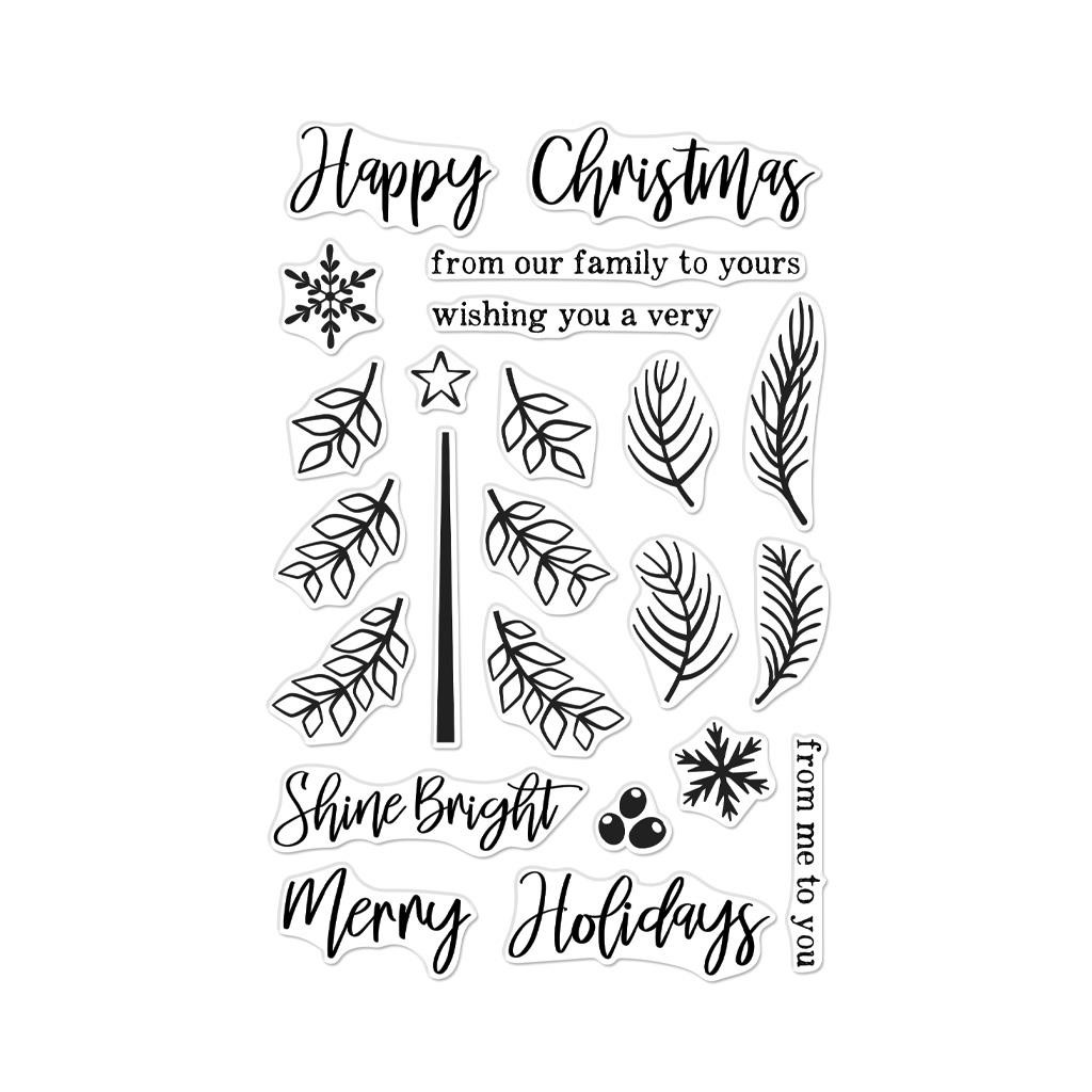 Build A Tree, Hero Arts Clear Stamps - 857009230958