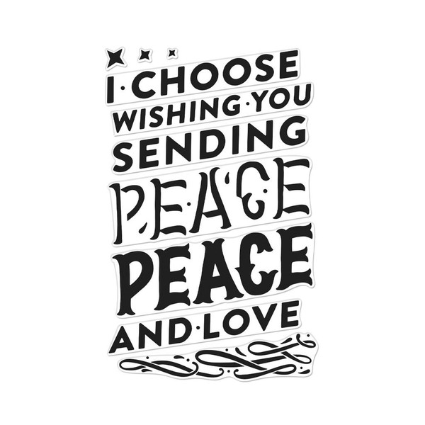 Color Layering Peace, Hero Arts Clear Stamps - 857009231184