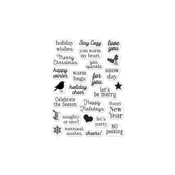 Hero Greetings Christmas Messages, Hero Arts Clear Stamps - 857009231252