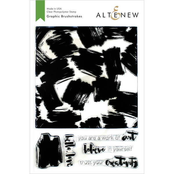 Graphic Brushstrokes, Altenew Clear Stamps - 704831302288