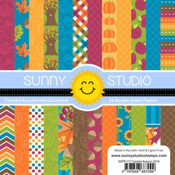 Colorful Autumn, Sunny Studio 6 X 6 Paper Pad -