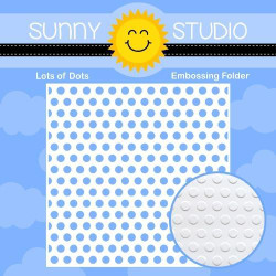Lots Of Dots, Sunny Studio Embossing Folder -