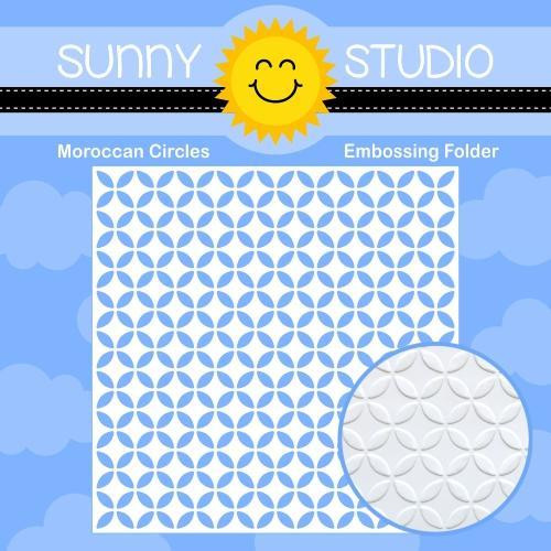 Moroccan Circles, Sunny Studio Embossing Folder -