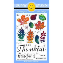 Elegant Leaves, Sunny Studio Clear Stamps -