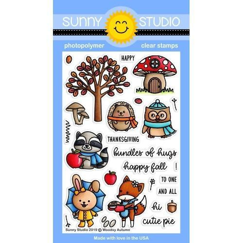 Woodsy Autumn, Sunny Studio Clear Stamps -