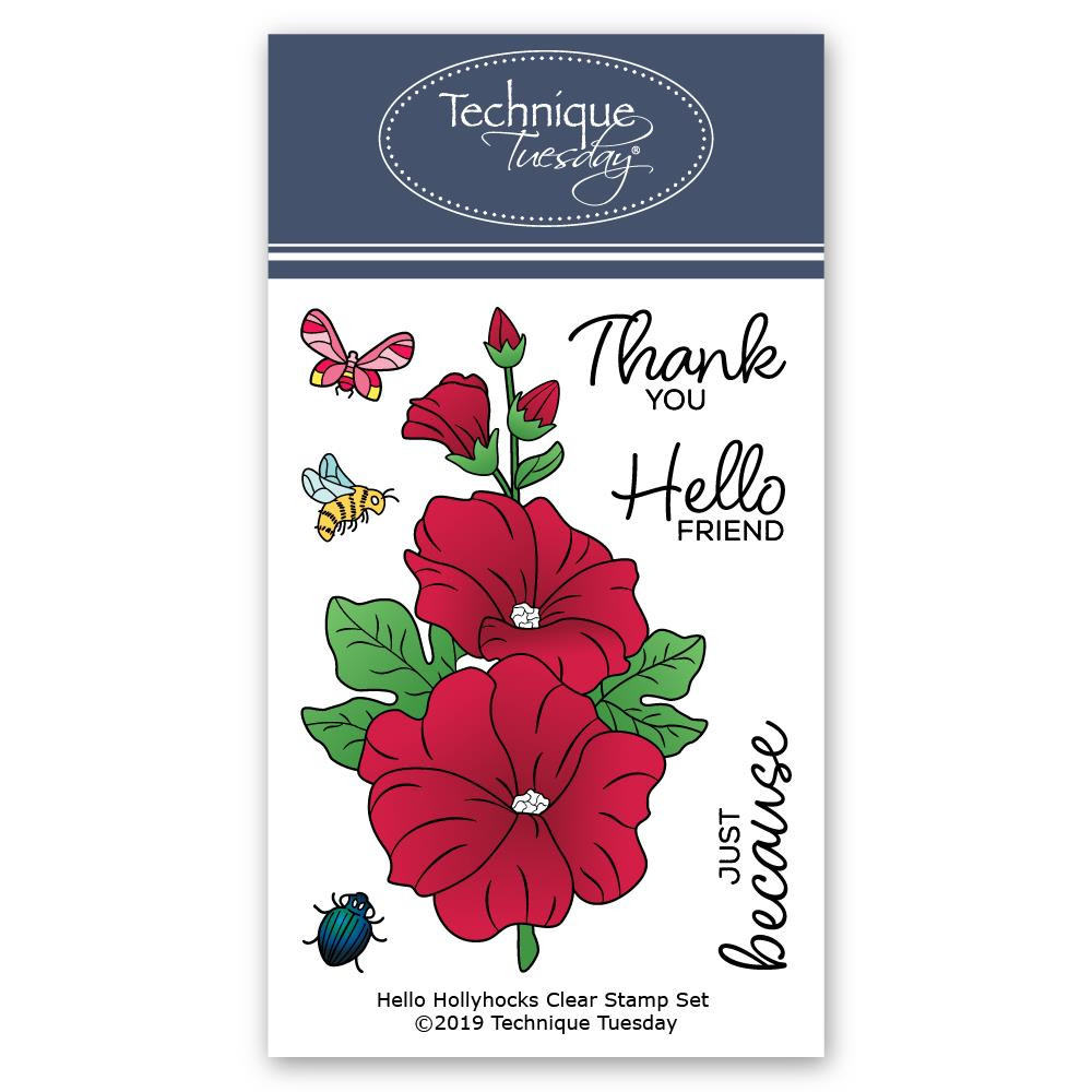 Hello Hollyhocks, Technique Tuesday Clear Stamps - 811784028001