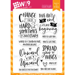 Onward & Upward, WPlus9 Design Studio Clear Stamps -