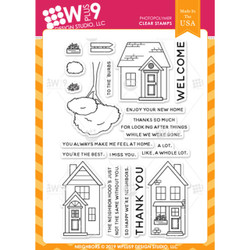 Neighbors, WPlus9 Design Studio Clear Stamps -