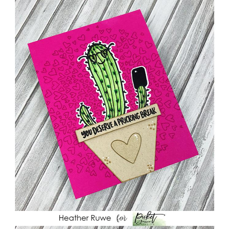 A Pricking Break, Picket Fence Studios Clear Stamps - 745557996979