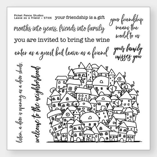 Leave As A Friend, Picket Fence Studios Clear Stamps - 745557992100