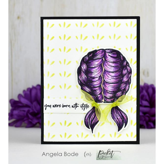 Your Eyeliner Straight, Picket Fence Studios Clear Stamps - 745557997822