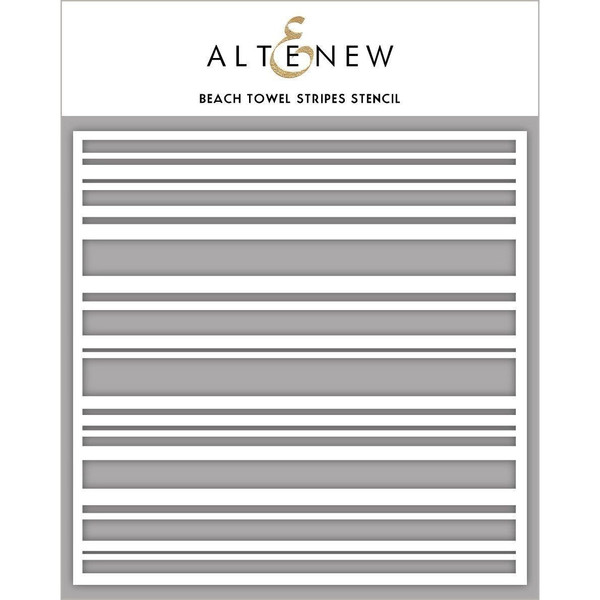 Beach Towel Stripes, Altenew Stencils - 704831303391