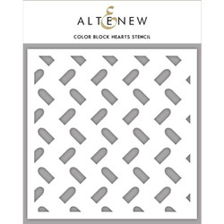 Color Block Hearts, Altenew Stencils - 704831303421