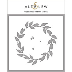 Wonderful Wreath, Altenew Stencils - 704831303445