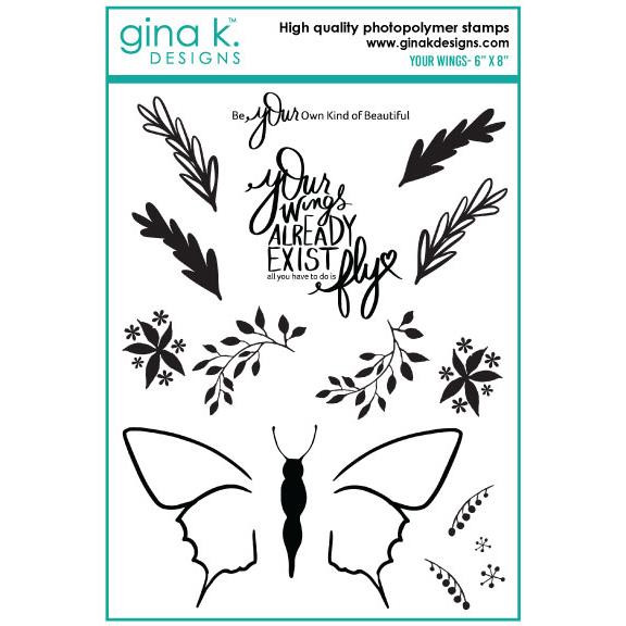 Your Wings, Gina K Designs Clear Stamps - 609015540886