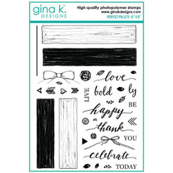 Perfect Pallets, Gina K Designs Clear Stamps - 609015540893