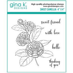 Sweet Camellia, Gina K Designs Clear Stamps - 609015541333