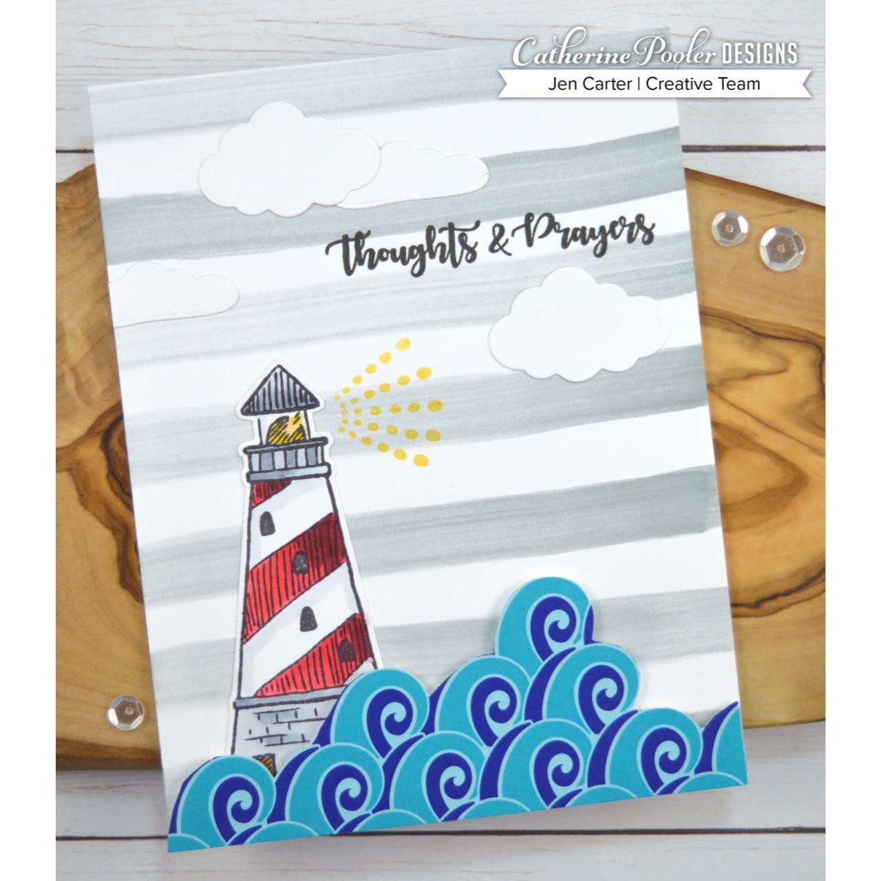 She Sells Seashells, Catherine Pooler Clear Stamps - 819447023578