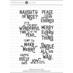 Retro Holiday Greetings by Julie Ebersole, Essentials By Ellen Clear Stamps -