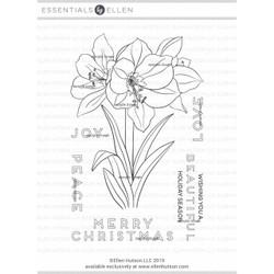 Mondo Amaryllis by Julie Ebersole, Essentials By Ellen Clear Stamps -