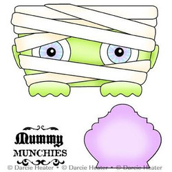 Mummy Munchies, Darcie's Clear Stamps -
