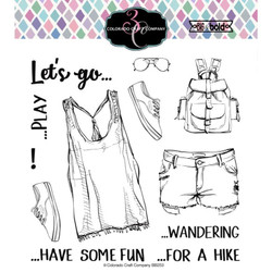 Let's Go!, Colorado Craft Company Clear Stamps - 857287008553