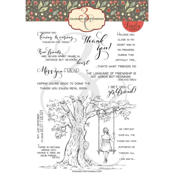 Reflection Tree, Colorado Craft Company Clear Stamps - 857287008591