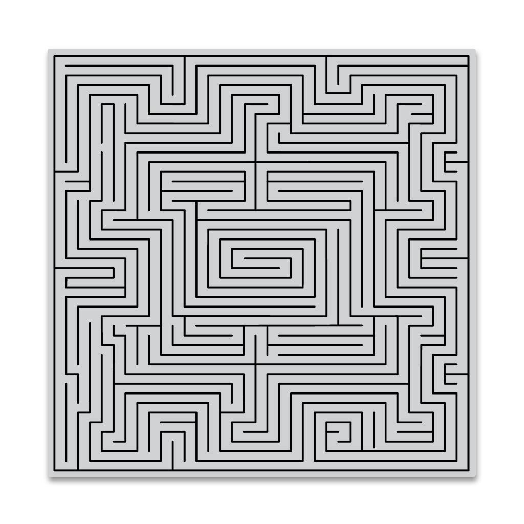 Maze Bold Prints, Hero Arts Cling Stamps - 085700923897