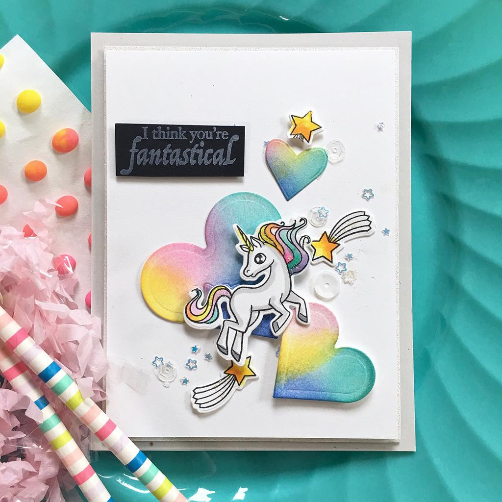 Dragons & Unicorns, Hero Arts Clear Stamps - 085700923798