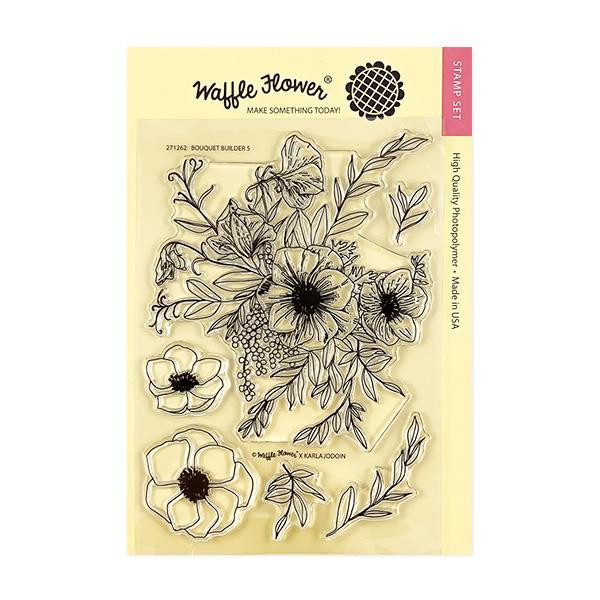 Bouquet Builder 5, Waffle Flower Clear Stamps - 644216559824