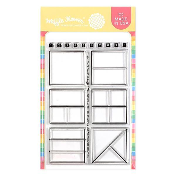 Color Combos, Waffle Flower Clear Stamps - 644216560028