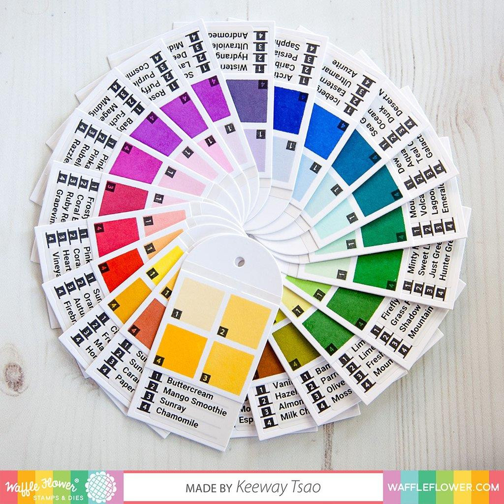 Combo Swatch, Waffle Flower Clear Stamps - 644216560226