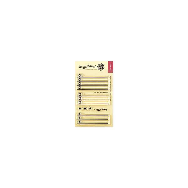 Bullet List, Waffle Flower Clear Stamps - 644216560325