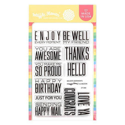 Big Dots Sentiments, Waffle Flower Clear Stamps - 644216563821