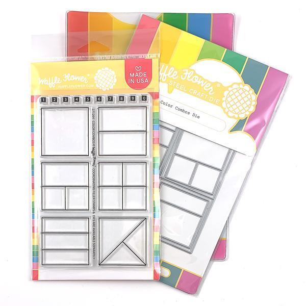 Color Combos, Waffle Flower Stamp & Die Combo - 644216561124