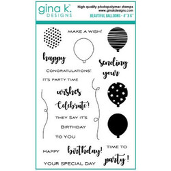 Beautiful Balloons, Gina K Designs Clear Stamps - 609015540909
