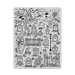 Halloween Scene Background, Hero Arts Cling Stamps - 085700923033
