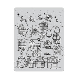 Winter Village Peek-A-Boo, Hero Arts Cling Stamps - 085700923040