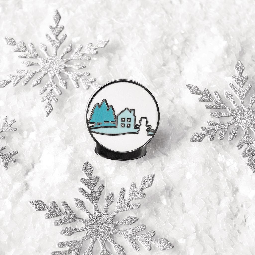 2019 Snow Globe, Hero Arts Enamel Pins - 085700923767