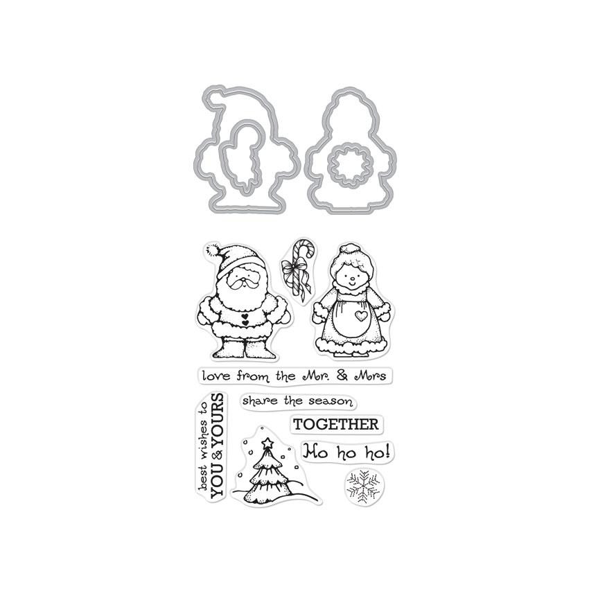 From The Vault: Mr. and Mrs., Hero Arts Stamp & Cut - 085700923316