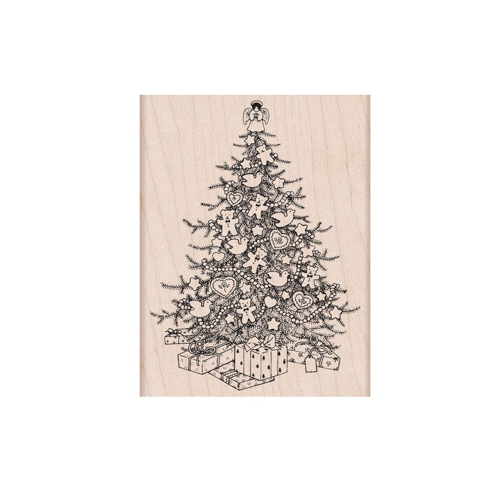 From The Vault: Christmas Tree, Hero Arts Wood Block Stamps - 085700923149