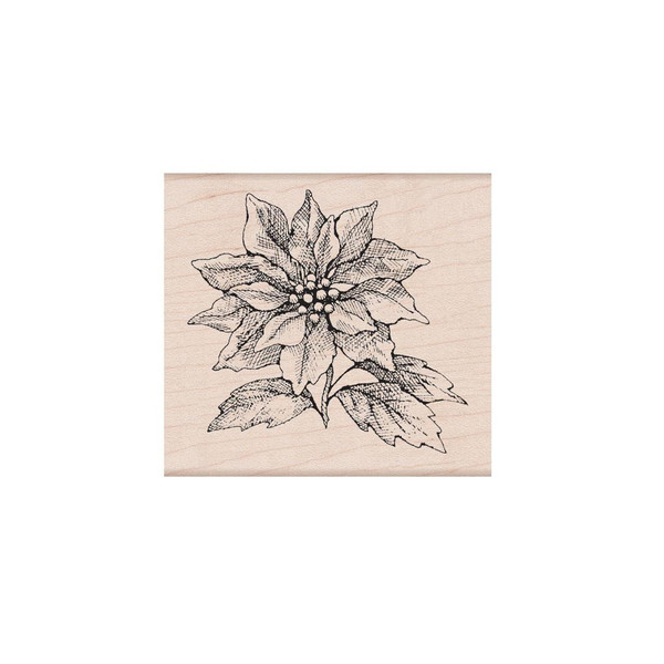 From The Vault: Poinsettia, Hero Arts Wood Block Stamps - 085700923361