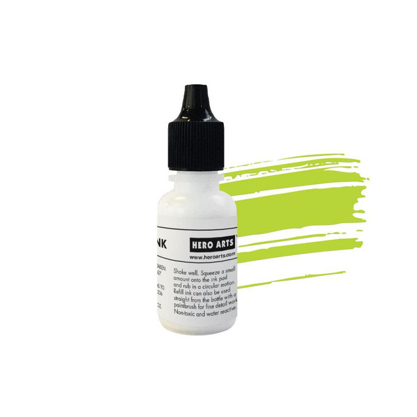 Key Lime Fizz Reactive Ink, Hero Arts Reinker - 085700923576