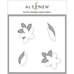 Playful Plumeria, Altenew Mask Stencil - 704831303018
