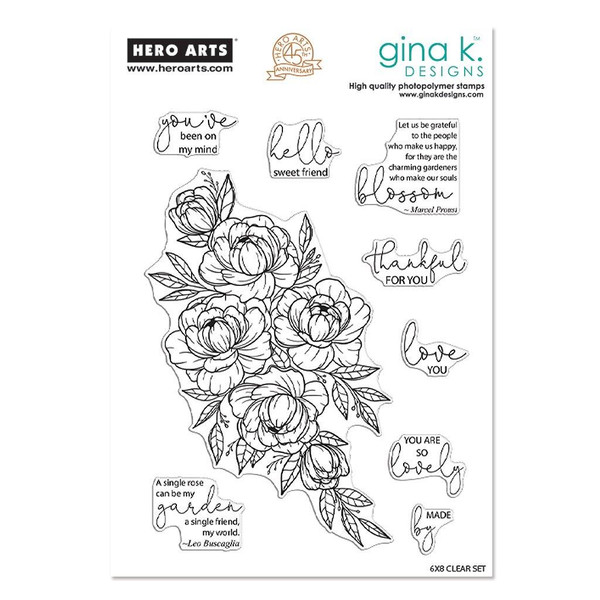 Friendship Blooms, Hero Arts & Gina K Clear Stamps -