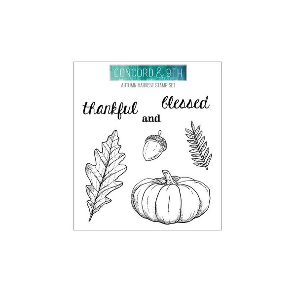 Autumn Harvest, Concord & 9th Clear Stamps - 902224006106