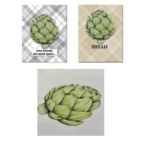 Vintage Artichoke, Concord & 9th Clear Stamps - 902224007196